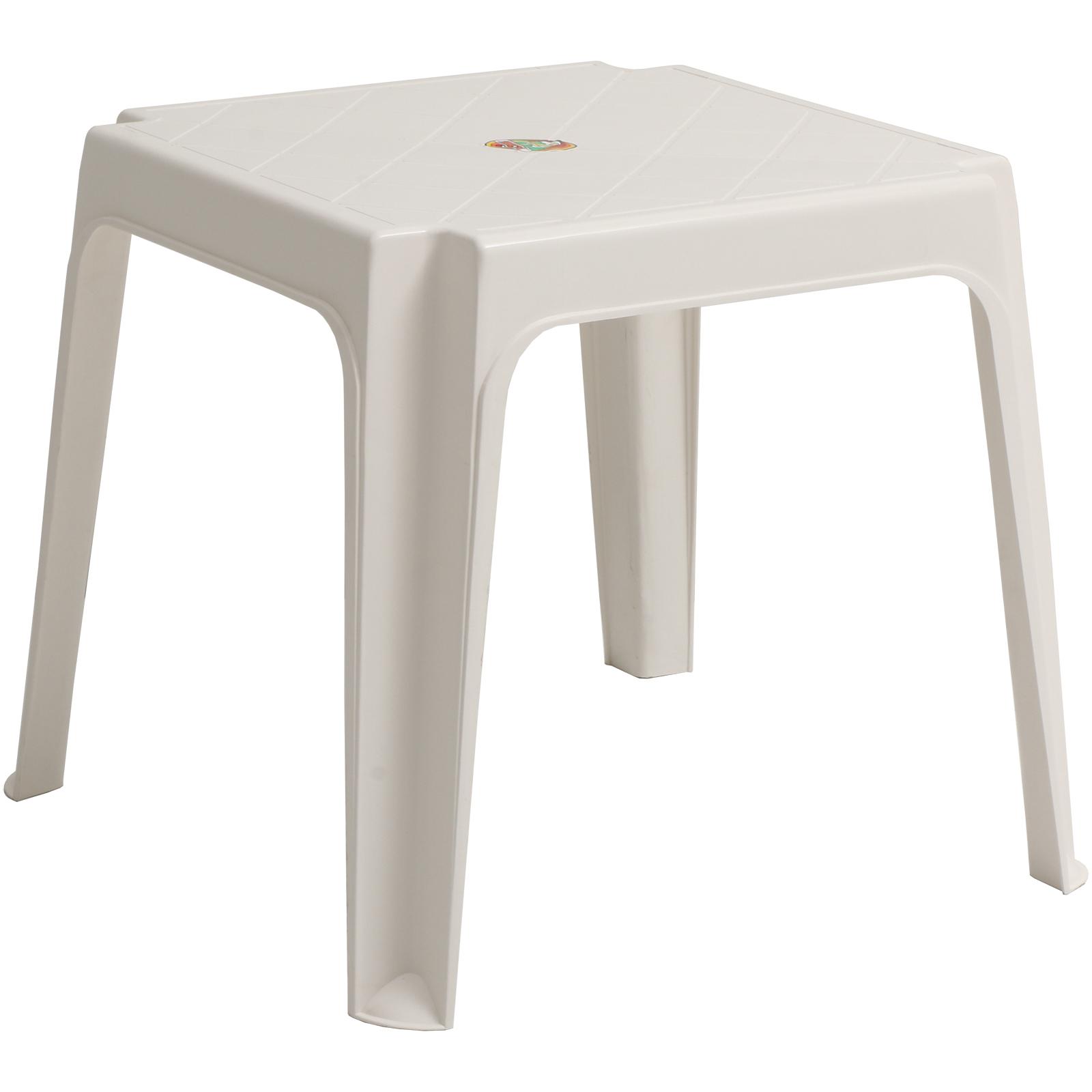 sun lounger side coffee table white plastic outdoor garden patio furniture stool 5055493880801 ebay