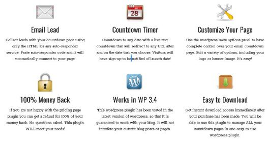 WP Email Countdown Plugin Description