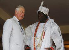 Prince Charles with Ooni of Ife Adeyeye Ogunwusi (right)