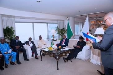 PRESIDENT BUHARI MEETING NIGERIANS IN JAPAN