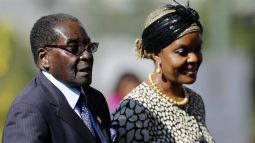 Mugabe and Grace, his wife