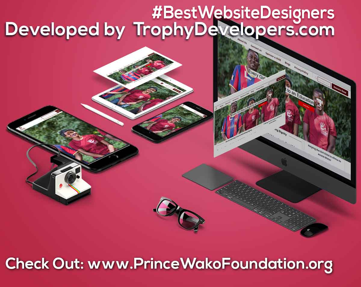 A beautiful website of Prince Wako foundation non profitable organization helping girl child with , for digital Art Website go to (https://www.princewakofoundation.org/) created by Trophy Developers Uganda it is a website design firms for web design online,website designing site, website design cool website designs and website builder company