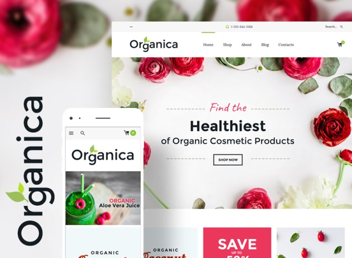 Organica - Organic Food, Cosmetics and Bio Active Nutrition WooCommerce Theme
