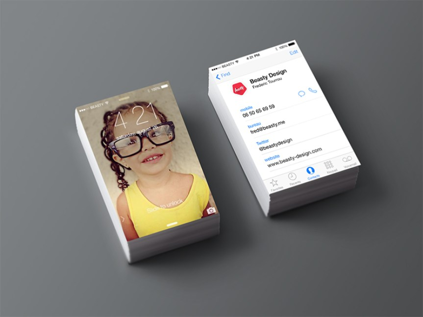 25 creative business card designs for your inspiration iphone business card vol2 reheart Choice Image