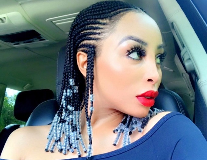 Seen Khanyi Mbau S Dope Tribal Braids