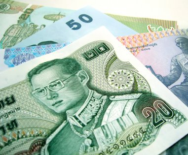 thai baht bank note