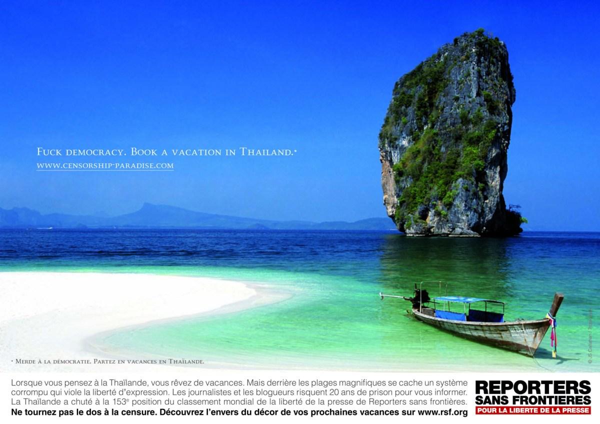 RSF campagne Thailande