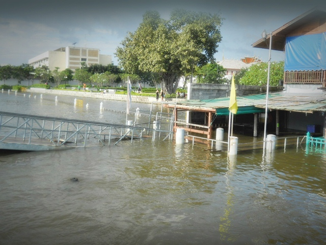 Flooding river Bangkok