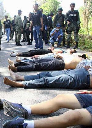 Insurrection dans le sud de la Thaïlande