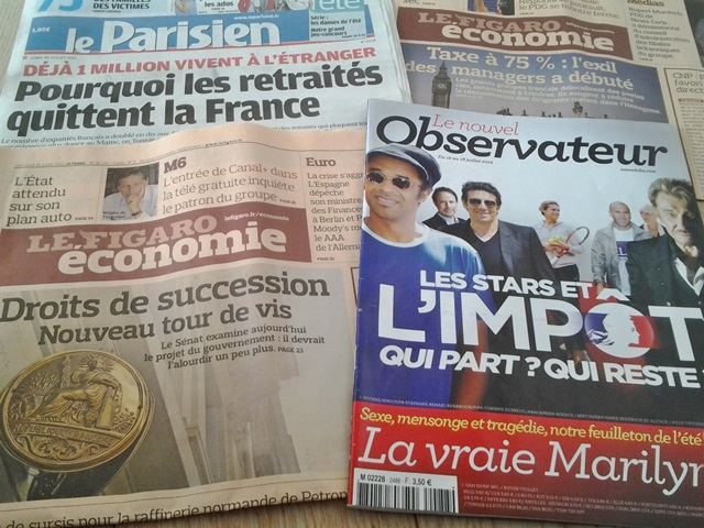Media France Figaro Nouvel Obs Parisien