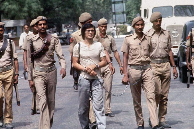 Charles Sobhraj, dit «Le Serpent» lors de son arrestation en Inde