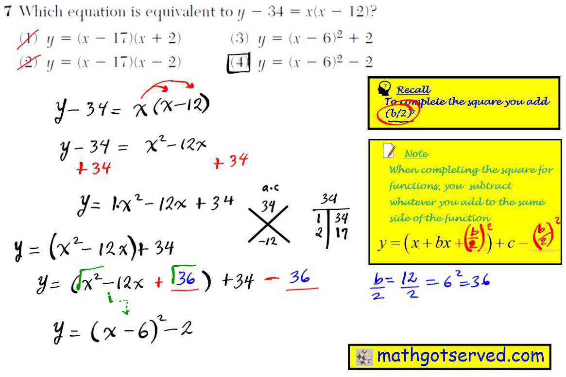 Integrated 9th Grade Math Worksheet 2