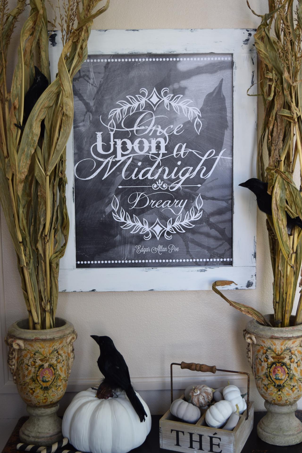 The Raven chalkboard art digital download