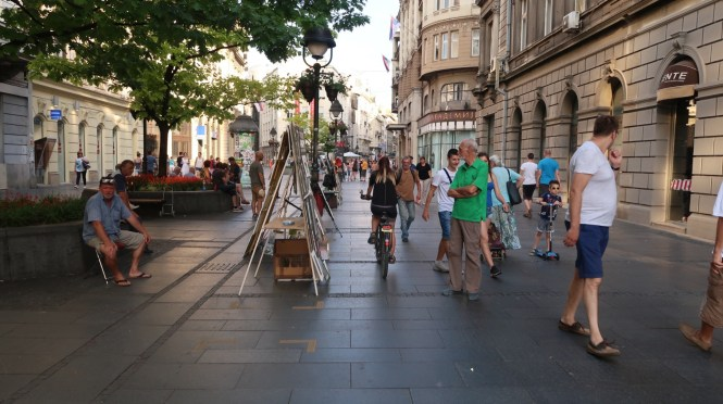 The-shopping-street-in-Belgrade