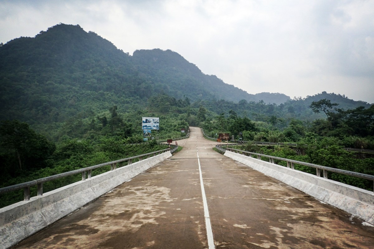 lonely road in the Phong Nha-Ke Bang National Park