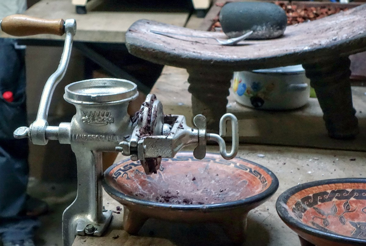 grinder used in the cocoa plant