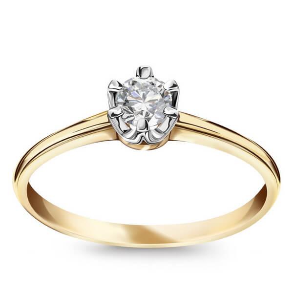 Złoty Pierścionek z Diamentem PXD5650