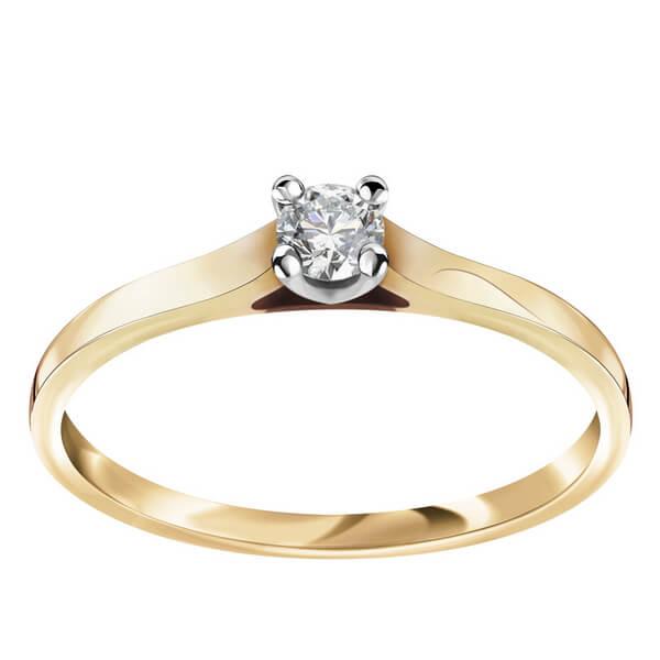 Złoty Pierścionek z Diamentem PZD5617