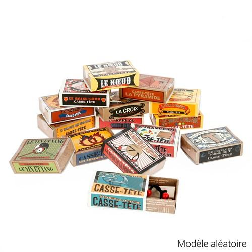 Casses-têtes dans des boite retro, format boite d'allumettes