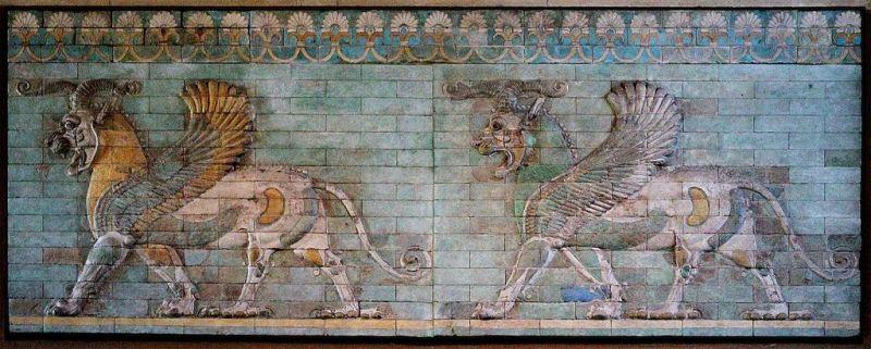 Frise des griffons du Palais de Darius Ier à Suse, en Mésopotamie - Musée du Louvre