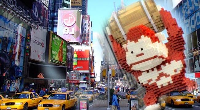 Extrait du film Pixel : King Kong en pixel dans un New York normal