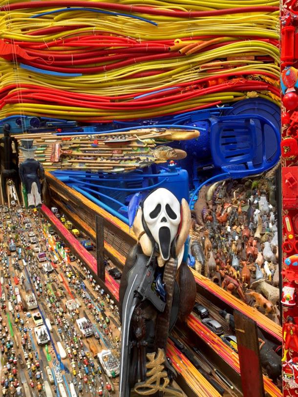 Le cri de Munch en objet - anamorphose de Bernard Pras