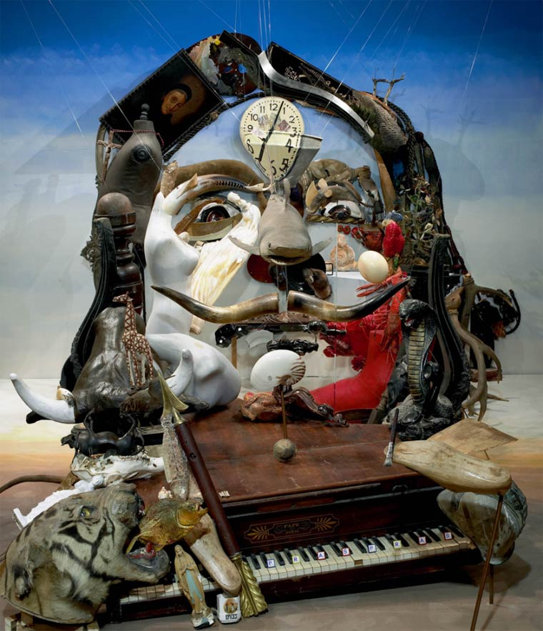 Dali anamorphose vue de face par Bernard Pras