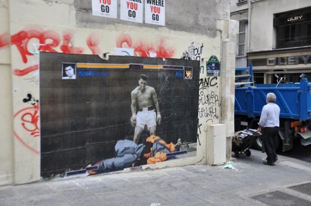 combat sur le mur Mohamed Ali 1 – Street Fighter 0