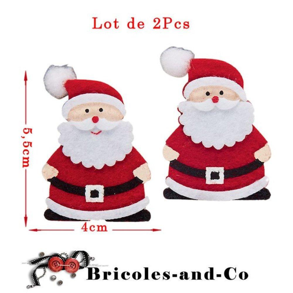 Pere Noel En Feutrine Modele C Sur Pince A Linge Pour Toute Vos Creations Et Decoration De Noel Taille 4cmx 5 5cm Lot De 2pcs N 603 Un Grand Marche