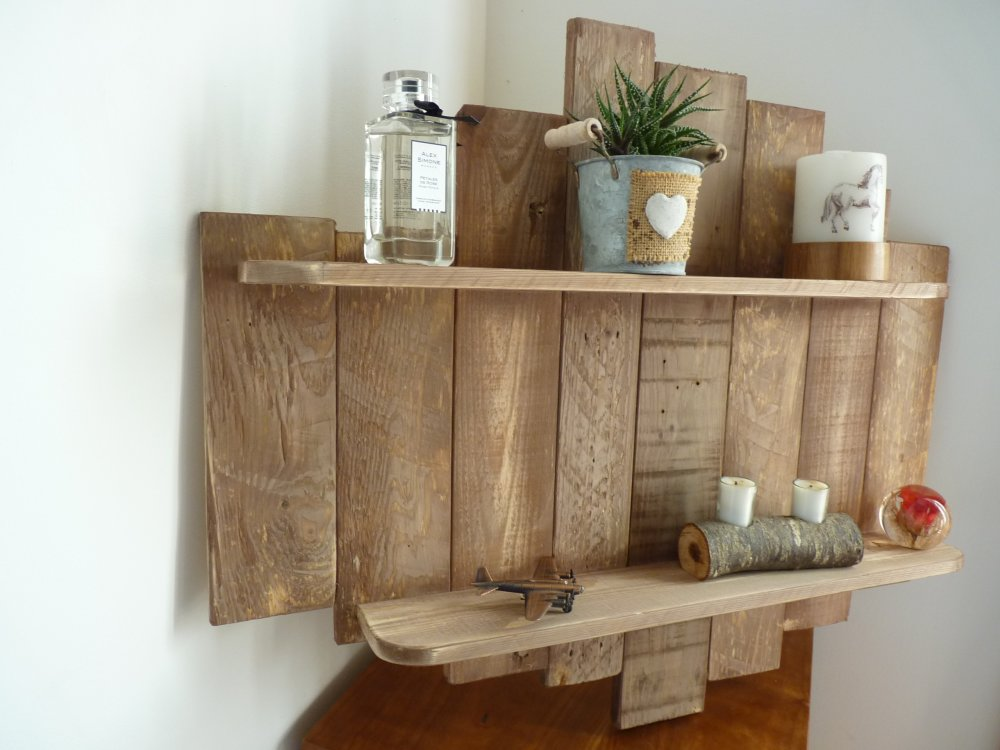 etagere murale bois recycle palettes