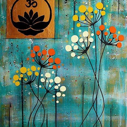 embleme lotus et signe om