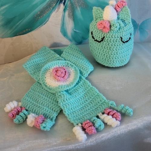 إغواء شرط حدد echarpe licorne crochet