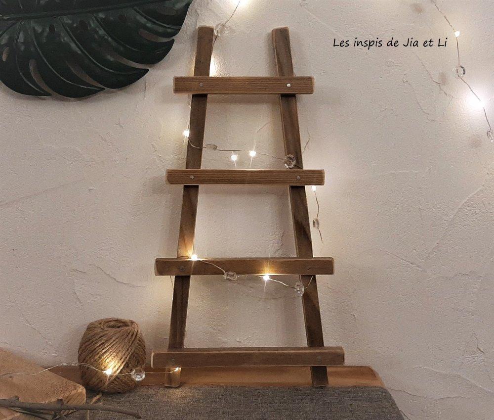 echelle decorative en bois recycle