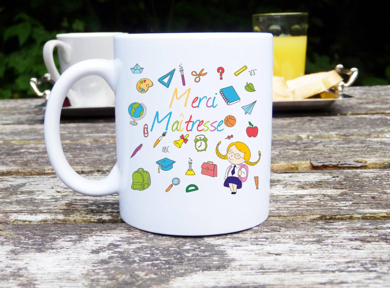 mug personnalise mug merci maitresse