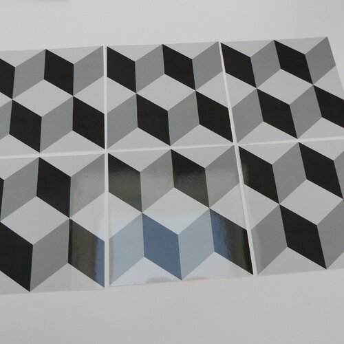 6 autocollant carreau adhesif mur et