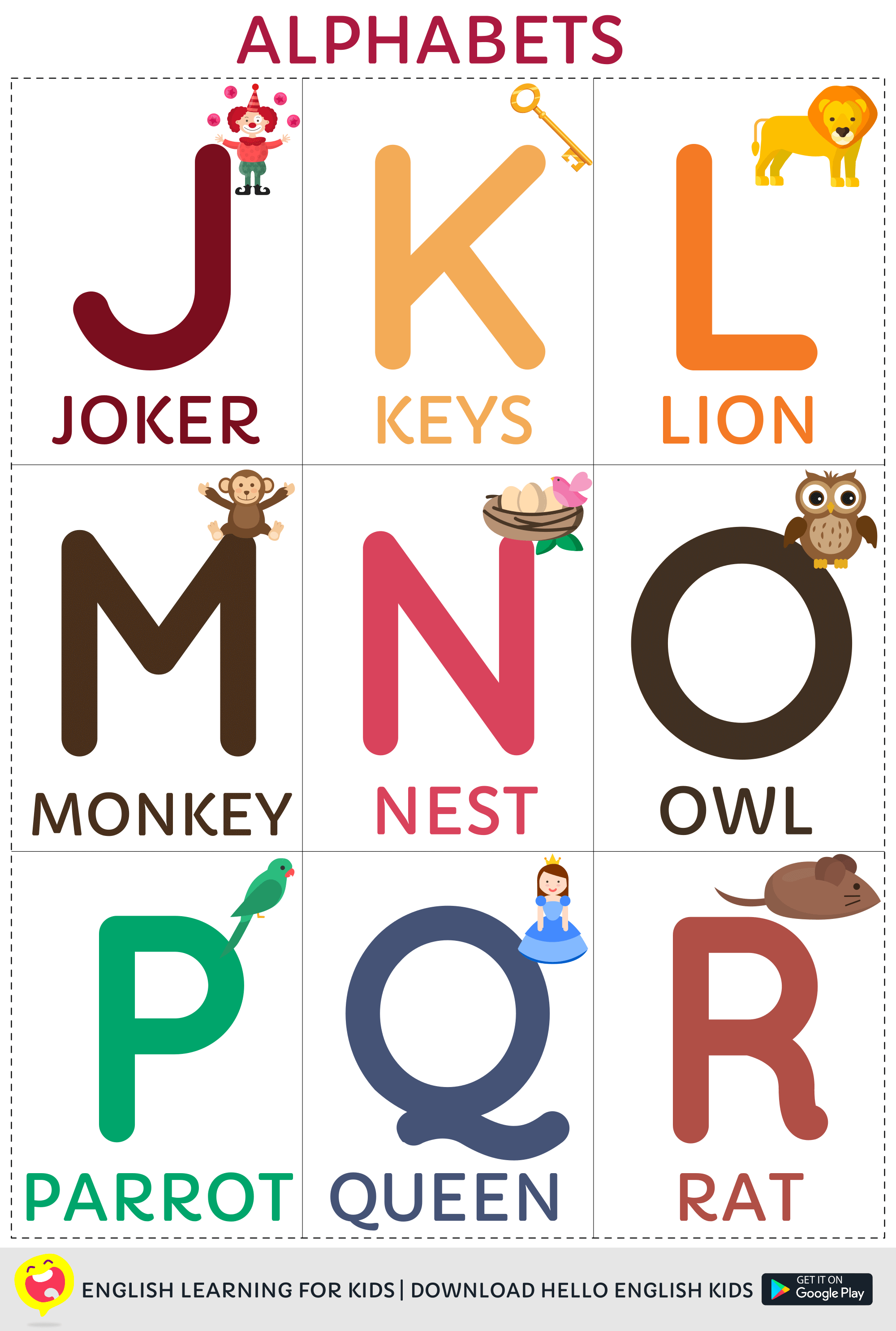 Hello English Kids Printable