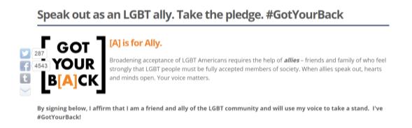 #GiveItBack GLAAD Allyship