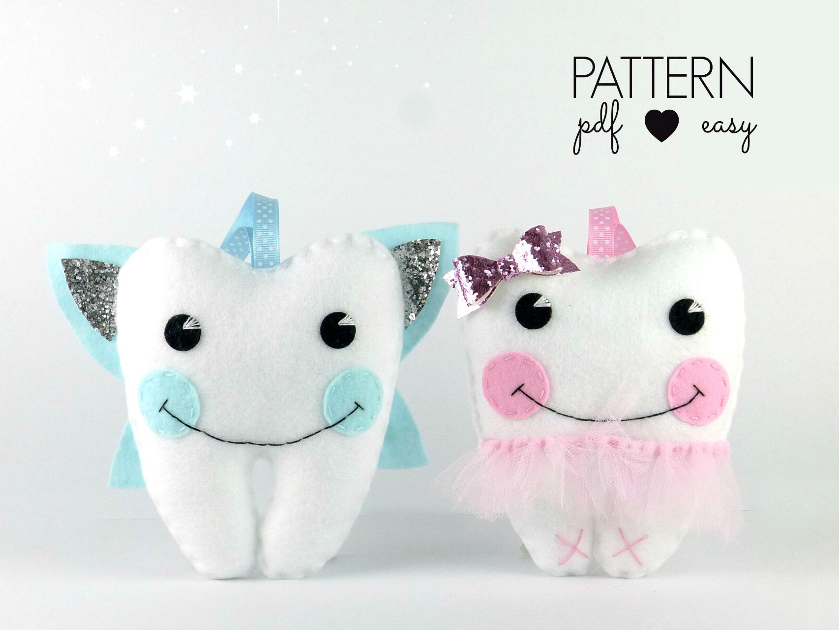 tooth fairy pillow sewing pattern ballerina fairy