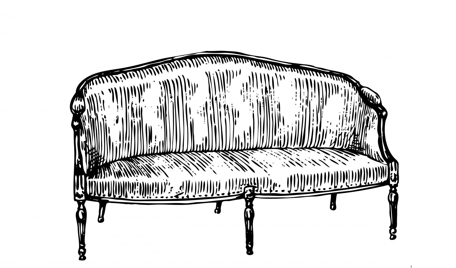 Sofa Clipart Black And White