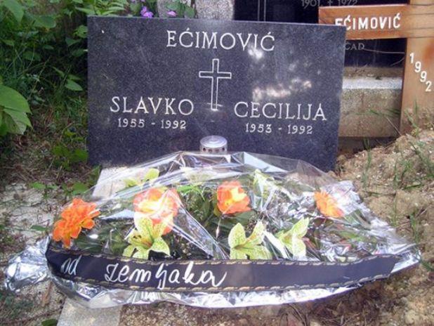 Grob Slavka i Cecilije Ećimović - undefined