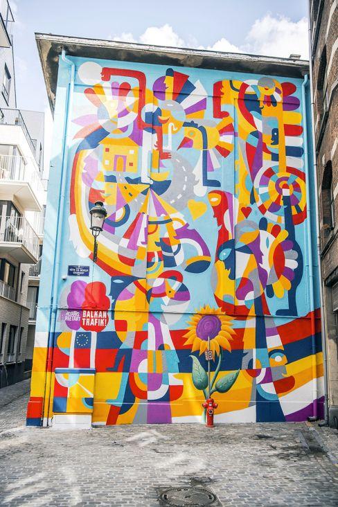 Mural Rikarda Druškića u Briselu - undefined