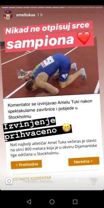 Amel Tuka nakon pobjede - undefined
