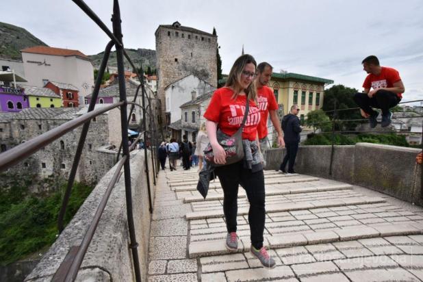 Mostar je danas obojen u crveno - undefined