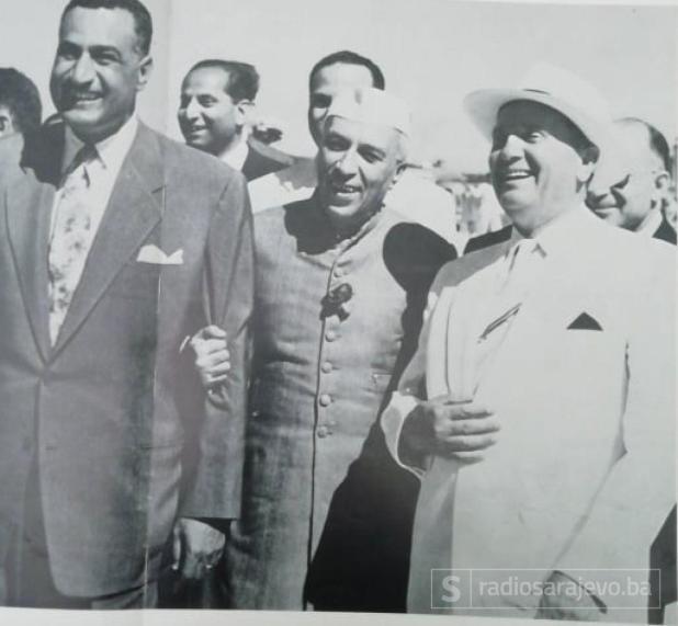 Foto: Tito ilustrovana biografija/Nehru, Naser i Tito, Brioni 1956.