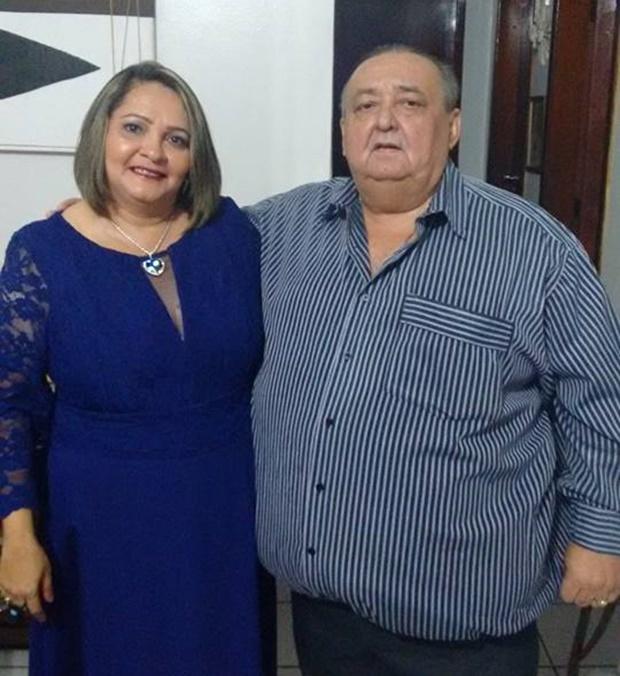 Delegado Jorginho e a esposa