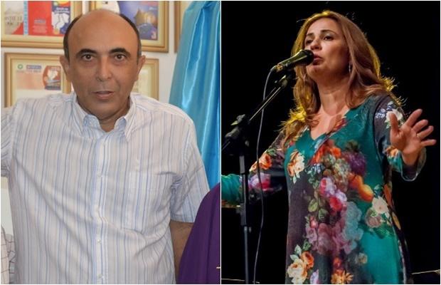 Gerson Mourão Filho e a cantora Myriam Eduardo