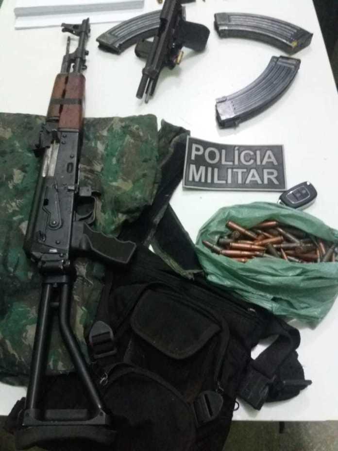 Armas e munições apreendidas pela polícia de Campo Maior