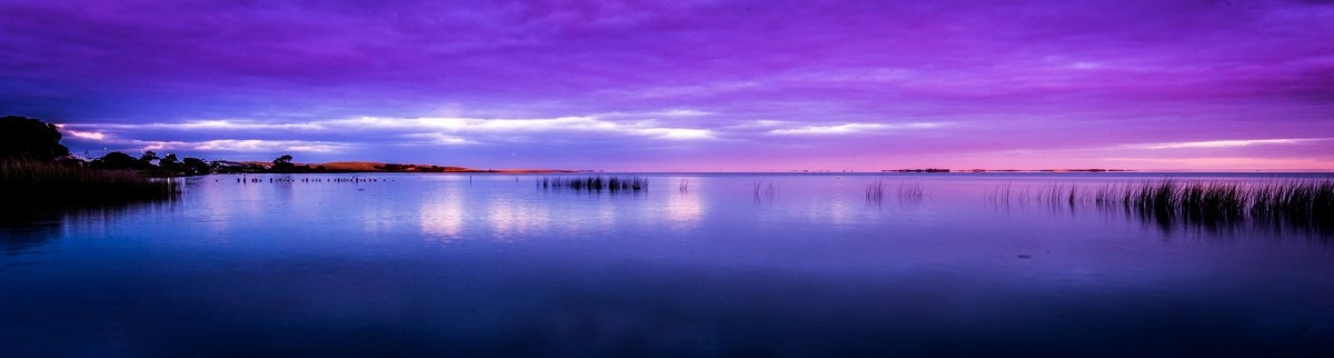 The Ultimate Land Rover Road Trip Around Australia Henry Brydon, lake, purple, sunset, reflection, water, hero