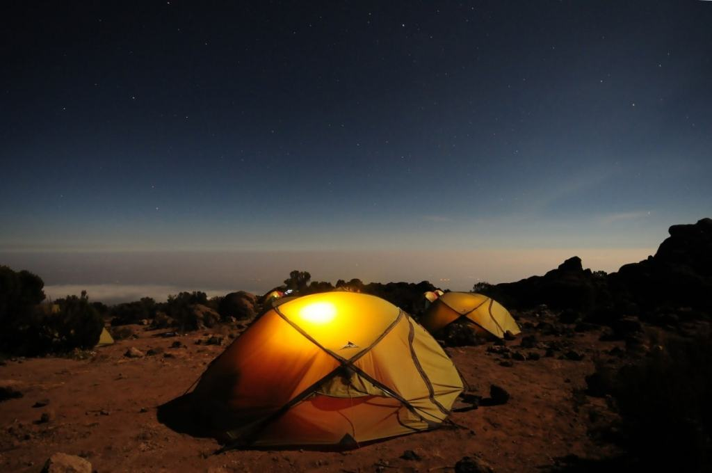 Top 6 Sydney Camping Escapes (by Public Transport), Henry Brydon, Royal National Park, camping, tent, light, night sky, sand