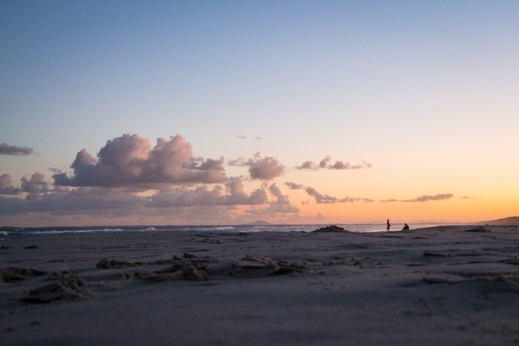 Best Brisbane Escapes South of the City Yasmin Maher, bundjalung sunset, beach, clouds, sillhouette